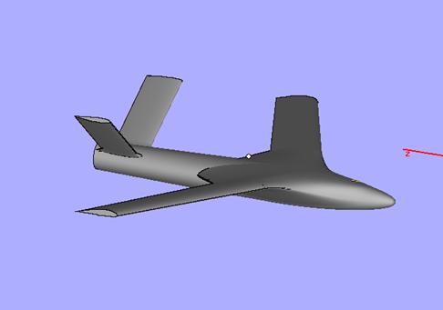 3D Printed Aeroplane STL - Side View 2