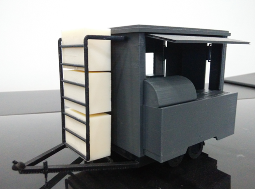 3D Printed Mobile Kiosk Cart