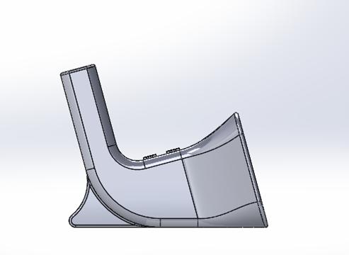 3D Printed iPhone Amplifier_CAD_Left